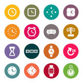 Zegary i ikony tematu czas — Wektor stockowy