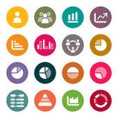 Iconos de infografía — Vector de stock