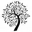 Black tree — Vector de stock #31521499