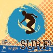 Stock Vector: Surf grunge scene