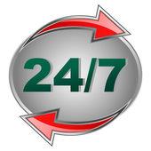 Emblem 24 7 — Stock Vector