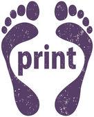 Footprint — Stock Vector