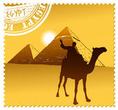 Egypt pyramids illustration — Stock Vector