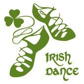 Irish dance shoes — Stock Vector