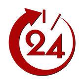 24 stunden — Stockvektor