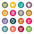 Shopping cart icons — Imagen vectorial