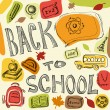 Back to school vector background — Vettoriali Stock
