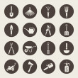 Gardening tools icons set — Stockvektor
