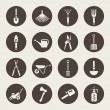 Gardening tools icons set — Image vectorielle