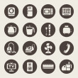 Stock Vector: House appliances icons
