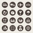 Logistic icons set — Stockvektor