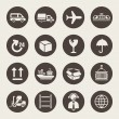 Stock Vector: Logistic icons set