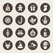 Christmas icons — Vector de stock #33571681