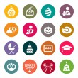Holidays icons — Vector de stock #33571769
