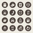 Vector de stock : Hotel services icons