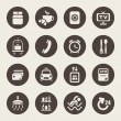 Stock Vector: Hotel services icons