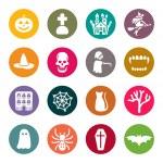 Halloween theme icons — Stock Vector
