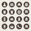 Vector de stock : Clothes icons