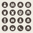Clothes icons — Vettoriale Stock #33572089