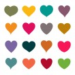 Set of vector hearts — Imagen vectorial