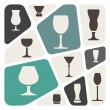 Alcohol glass background — Imagen vectorial