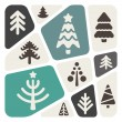 Christmas trees background — Imagen vectorial