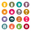 Coffee icons — Stock Vector #33572425