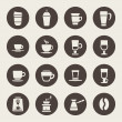 Coffee icons — Stockvektor #33572427