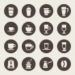 Coffee icons — Vettoriale Stock #33572427