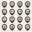 Vector de stock : Map icons set