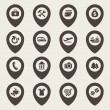 Map icons set — Stock Vector