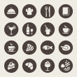 Restaurant icons — Vector de stock #33572487