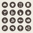 Restaurant icons — Vettoriale Stock #33572487