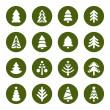 Christmas tree icons set — Stock Vector