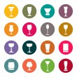 Drink glass icons — Stock Vector