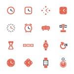 klockor och tid tema ikoner — Stockvektor