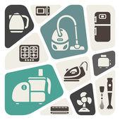 House appliances theme background — Stock Vector