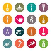 Gardening tools icons set — ストックベクタ