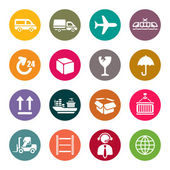 Logistic icons set — Stock Vector