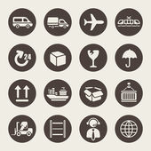 Logistic icons set — Stockvector