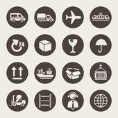 Set icone logistica — Vettoriale Stock