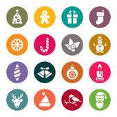 Iconos de navidad — Vector de stock