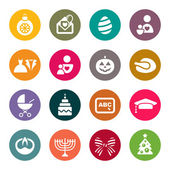 Holidays icons — Stock Vector