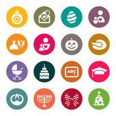 Iconos de vacaciones — Vector de stock
