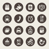 Hotel services icons — Vector de stock