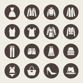 Clothes icons — Stock vektor