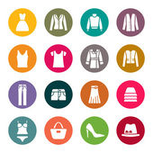 Clothes icons — Vector de stock