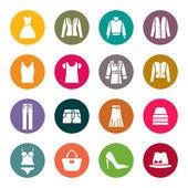 Iconos de ropa — Vector de stock