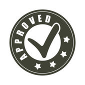 Approved stamp vector — Stock Vector