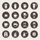 Icone di caffè — Vettoriale Stock